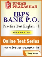 IBPS Bank P.O. Practice Test English - 1