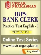 IBPS Bank Clerk Practice Test English - 1
