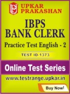 IBPS Bank Clerk Practice Test English - 2