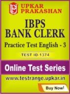 IBPS Bank Clerk Practice Test English - 3