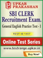 SBI Clerk Recruitment Exam. General English Practice Test - 1
