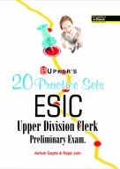 20 Practice Sets ESIC Upper Division Clerk Preliminary Exam.